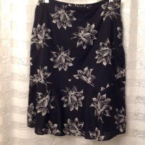 Ann Taylor A Line Cotton Skirt Size 10